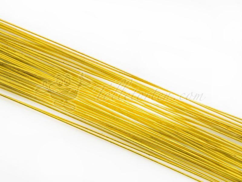 Blumendraht metallic gold 20G 50 Stück | Blumendrähte