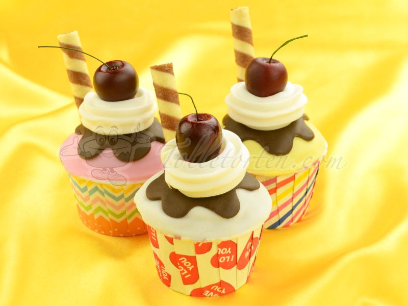 Cupcake Becher I Love You 20 Stück