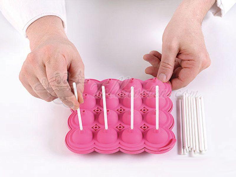 silikonform cake pops inkl 36 stiele cake pops. Black Bedroom Furniture Sets. Home Design Ideas