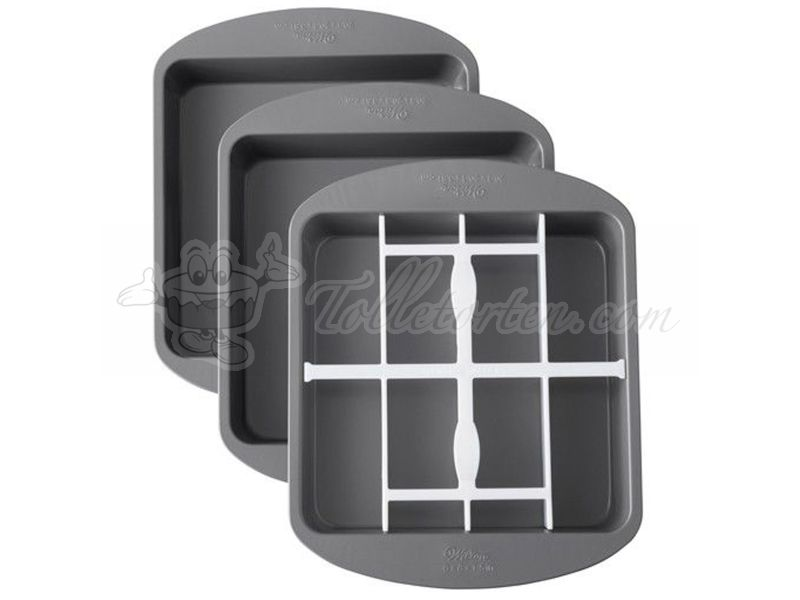 Wilton Schachbrett Square Checkerboard Cake Pan Set