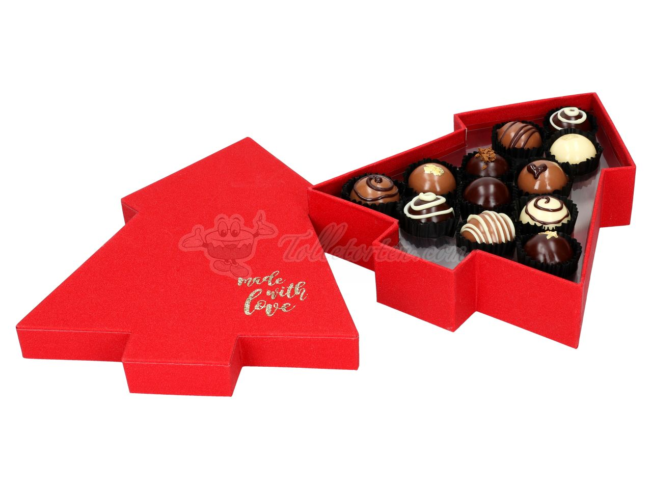 Chocolate Case Ruby Tree für 12 Pralinen