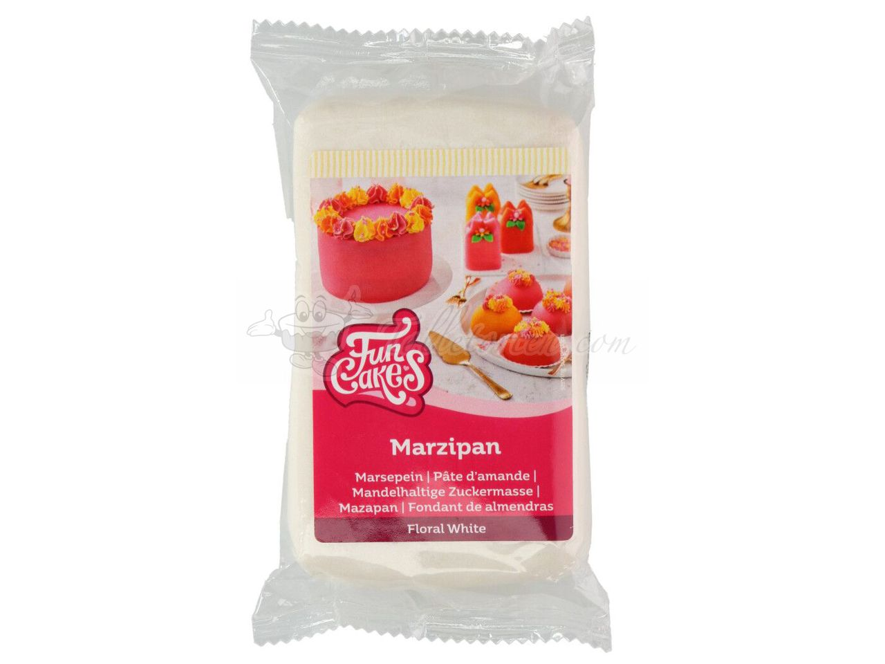 FunCakes Buntes Marzipan Floral Weiß 250g