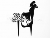 Cake Topper Mr. & Mrs. schwarz