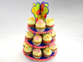Cupcake Etagere Happy Birthday